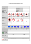 COSHH/DSEAR assessment record